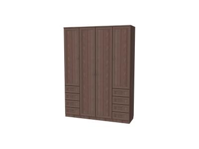 Шкаф для белья с полками и ящиками артикул 112 ясень шимо