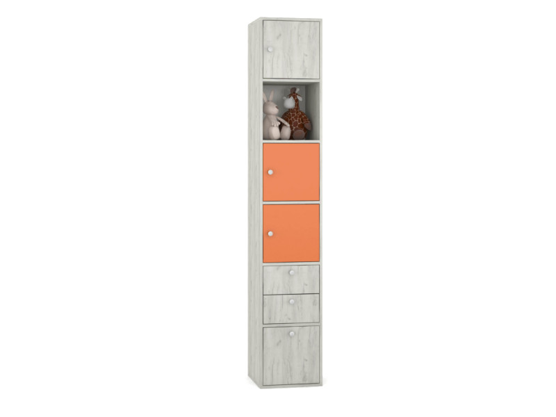 Стеллаж Тетрис 316 368х390х2128 оранжевый 368
