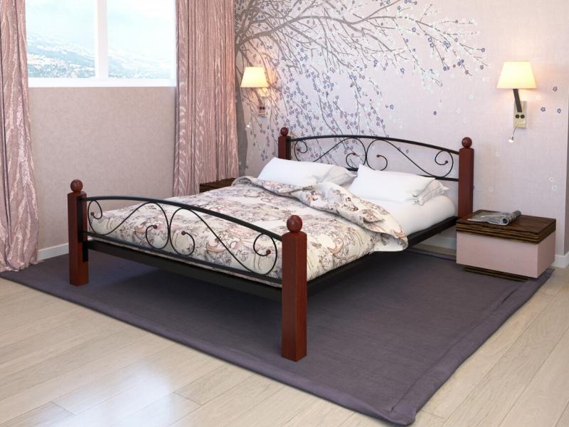 Кровать Вероника Lux Plus чёрная