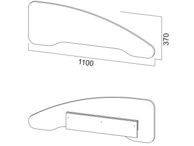 Бортик защитный для кровати SV 1100х370х48