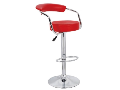 Барный стул Орион WX-1152 экокожа красный