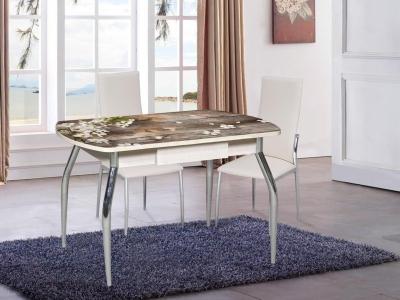 Стол со стеклом Грация с ящиком