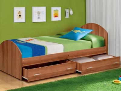 Кровать одинарная на уголках №2 с ящиками Матрица