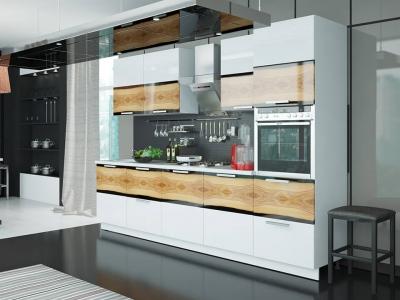 Кухонный гарнитур Фэнтези Вуд с пеналом 3,0м