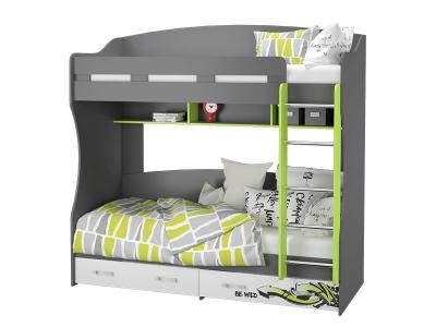Кровать 2-х ярусная Граффити