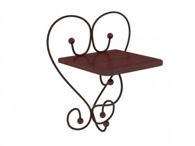 Полка настенная Милсон коричневая