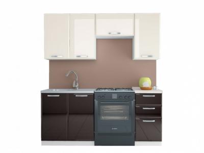 Кухня Равенна Лофт 1,8 м (40) ваниль глянец/шоколад