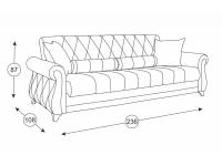 Диван-кровать Роуз ТД 118
