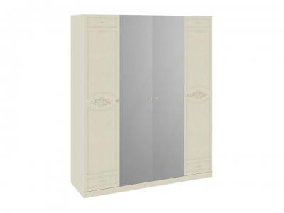 Шкаф для одежды и белья с 2 глух. и 2 зеркальными дверями Лорена СМ-254.44.001 Штрихлак