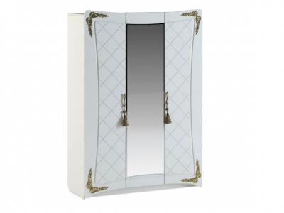 Шкаф Аделина Белый глянец-Золото