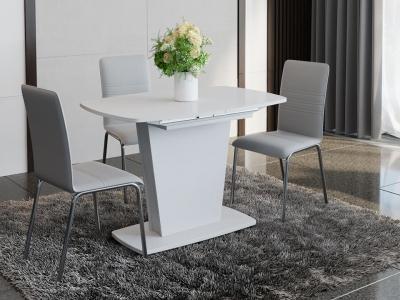 Стол раздвижной Честер Тип 1 Белый, стекло