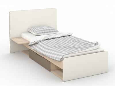 Кровать 90 Татани Сонома/латте/крем