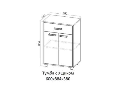 Тумба с ящиком Визит 1 600х884х380