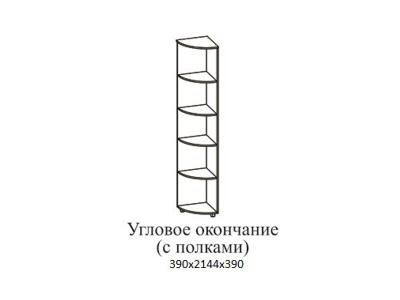 Угловое окончание с полками Визит 1 390х2144х390